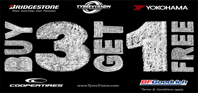 TyresVision Promotions Buy 3 Get 1 Free