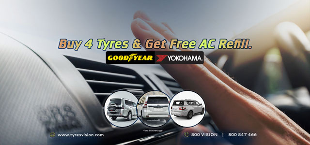 TyresVision Promotions Buy 4 Tyres & Get Free AC Refill